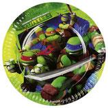 Piatti grandi Tartarughe Ninja 23cm- 8 pezzi