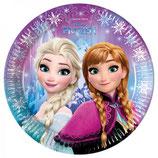 Piatti grandi Frozen Luci del Nord 23cm- 8 pezzi