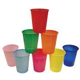 Bicchieri plastica colorati - 50 pezzi