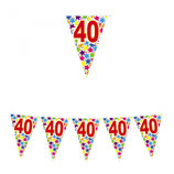 Bandierine 40 anni - 6 metri