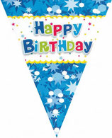 Bandierine Happy Birthday Blu - 2,3 mt