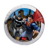 Piatti grandi Batman vs Superman 23cm- 8 pezzi
