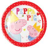 Piatti grandi Peppa Pig 23cm- 8 pezzi