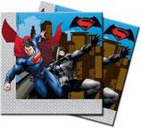 Tovaglioli Batman vs Superman - 20 pezzi