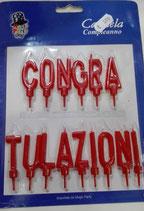 Candela Scritta Congratulazioni