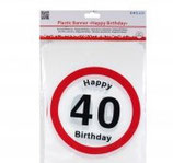 Festone Happy Birthday 40 anni