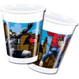 Bicchieri Batman vs Superman - 8 pezzi