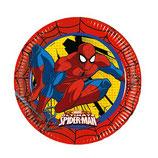Piatti grandi Spiderman 23cm- 8 pezzi