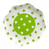 Piatti grandi a pois Verde 23cm -10 pezzi