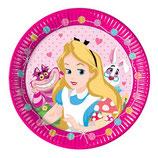Piatti grandi Alice nel paese delle meraviglie 23cm- 8 pezzi