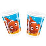 Bicchieri Alla ricerca di Nemo - 8 pezzi