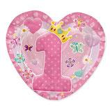 Piatti 1° compleanno bambina - 20cm