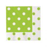 Tovaglioli di carta a pois Verde - 20 pezzi