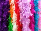 Boa di piume colorato