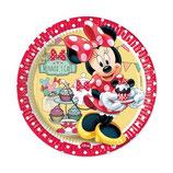 Piatti grandi Minnie 23cm- 8 pezzi