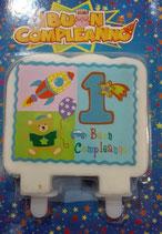 Candela Piatta 1 Compleanno  bambino