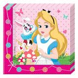 Tovaglioli Alice nel paese delle meraviglie - 20 pezzi