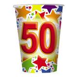 Bicchieri 50 anni - 10 pezzi