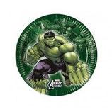 Piattini Avengers 18cm - 8 pezzi