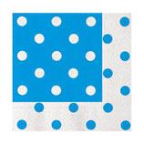 Tovaglioli di carta a pois Azzurri - 20 pezzi