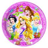 Piattini Principesse 18cm - 8 pezzi