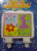 Candela Piatta 1 Compleanno bambina