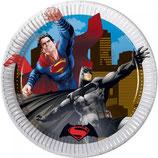 Piattini Batman vs Superman 18cm - 8 pezzi