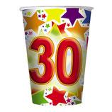 Bicchieri 30 anni - 10 pezzi