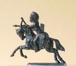 Indianer mit Bogen zu Pferd