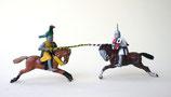 Zwei Ritter zu Pferd / um 1240