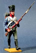 Musketier im Gefecht, vorgehend. Preußen 1809 - 1815