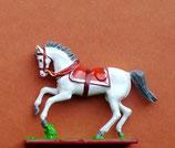 Pferd im Kurzgalopp mit Sattel