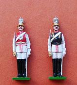 Garde du Corps in Galauniform und Gardist der 1. Leib-Schwadron (mit schwarzer Küraß) / Deutschland um 1900