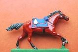 Pferd im Galopp / 4. Typ / mit Kosaken- (Dragoner-) Sattelzeug