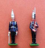 Offizier und Grenadier  /  1. Garde-Regiment zu Fuß / Preußen um 1894