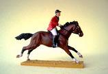 Reiter zu Pferd / Parforcejagd