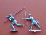 Fliehender Pikenier / englischer Bogenschütze, um 1476