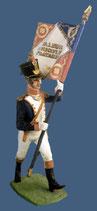 Füsilier-Offizier / Fahnenträger. Linienregimenter,  Grand Armee, Frankreich 1812 - 1815