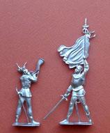 Berner Bannenträger mit Hornist, um 1476