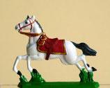 Pferd mit Sattel im Galopp / 1. Typ