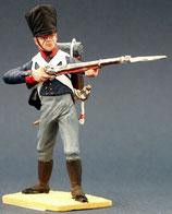 Musketier im Gefecht, legt an. Preußen 1809 - 1815