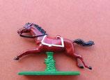 Pferd im Galopp mit Schabrake für Ulanen / Dragoner