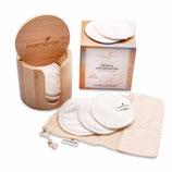 Bambusbox+Premium Abschminkpads weiß