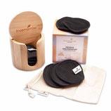 Bambusbox+Premium Abschminkpads anthra