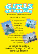 wakesurf camp per sole donne