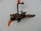 Naive Kunst / Ton Skulptur Vogel:   Erwin der Elephantgei