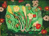 """Naive Kunst Collage:  """"  Wilde Blumen  """""""