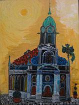 """Neo - Primitive Kunst /Acryl figurativ: """" Herbert von Heiliggeistkirchen """""""