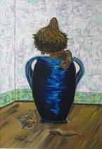 """Neo - Primitive Kunst /Acryl figurativ:  """"  Adieu ma Belle  """""""
