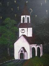 "Neo - Primitive Kunst / Acryl figurativ:  "" Die Sehnsucht des weinenden Himmels """